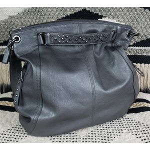 NEW Banana Republic Pewter Leather 3 in 1 Bag